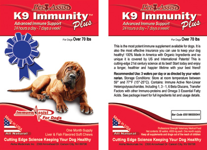 K9 Immunity Plus™ for dogs over 70 pounds