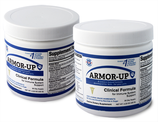 ARMOR-UP A science-based formula developed for Vets…for your pets.
