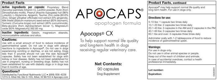 apocaps Product Ingredients